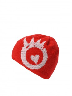 PEACE čiapka HEART LOGO RED