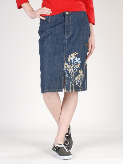 PEACE sukně LONG SKIRT BLU