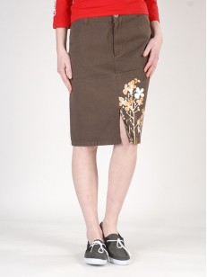 PEACE sukně LONG SKIRT BRW