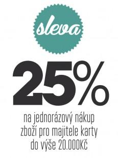 TEMPLE poukaz 25% sleva na jednorázový nákup do 20