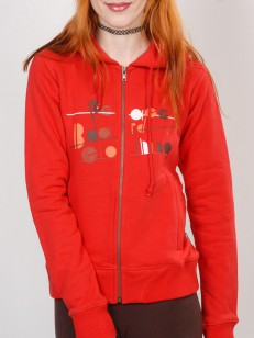 PEACE mikina BOARD CLOTHING RED