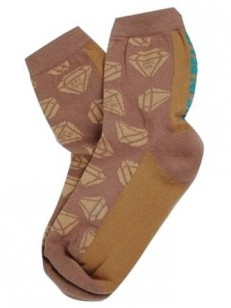 PEACE ponožky D DIAMOND BRW/WALNUT