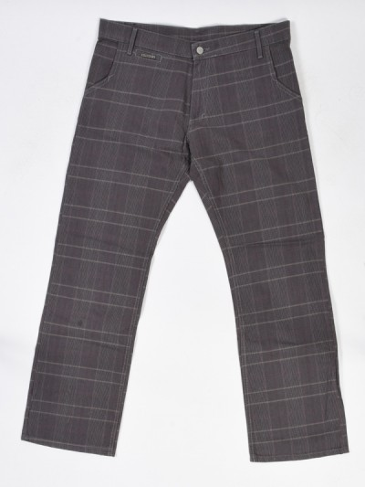 PEACE kalhoty CURB PANTS grey plaid
