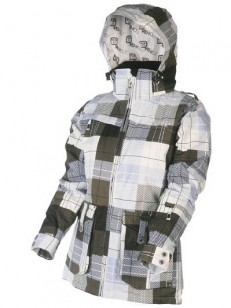 VEHICLE bunda FLAMINGS WHITE TARTAN/FLM07