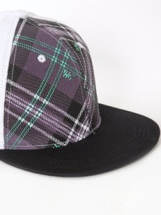 VEHICLE kšiltovka PLAID VIOLET