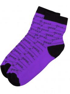 PEACE ponožky RAYAS PURPLE