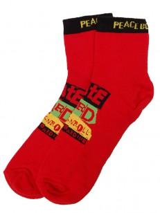 PEACE ponožky NEVER MIND RED