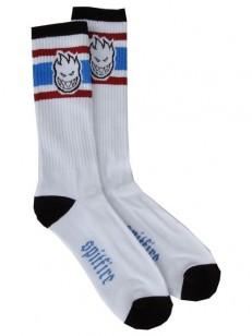 SPITFIRE ponožky BIGHEAD STRIPED WHT/BL