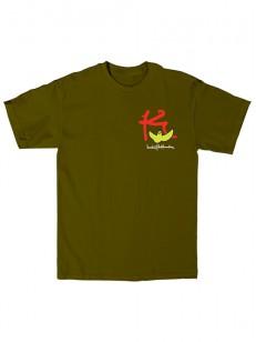 KROOKED triko KBIRD ARMY GREEN
