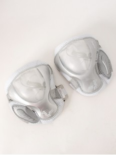 POWERSLIDE chrániče kolien PRO AIR WHT/SLV