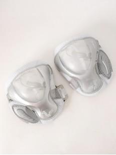 POWERSLIDE chrániče kolen PRO AIR WHT/SLV