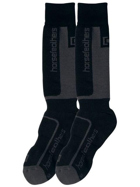 Horsefeathers Dětské Ponožky Murdock Gray - 20-22 černá