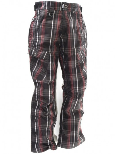 NUGGET kalhoty FLUSH A-Black Plaid