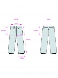 VEHICLE kalhoty ENDELL WHITE SLANT/END 02