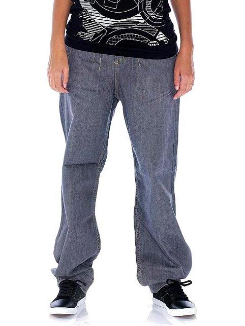 Nugget Kalhoty Thein A-grey Denim - 27 šedá