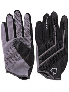 PRO TEC rukavice HANDS DOWN Black-Gray