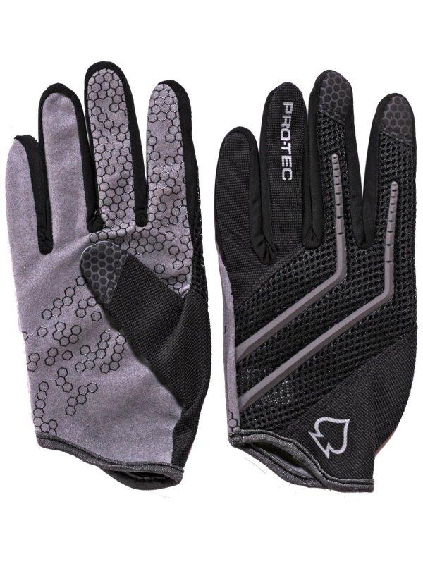 Pro Tec Rukavice Hands Down Black-gray - S černá