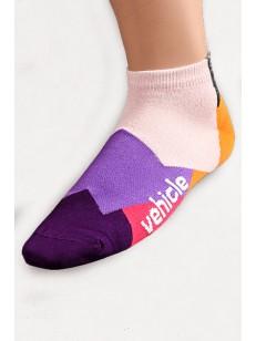 VEHICLE ponožky BLOCK ORANGE