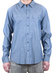 EZEKIEL košile OLIVER DARK BLUE