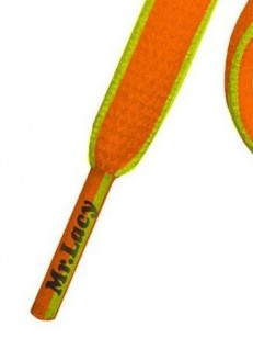 MR.LACY tkaničky 181 SLIMMIES Bright Orange - Neon