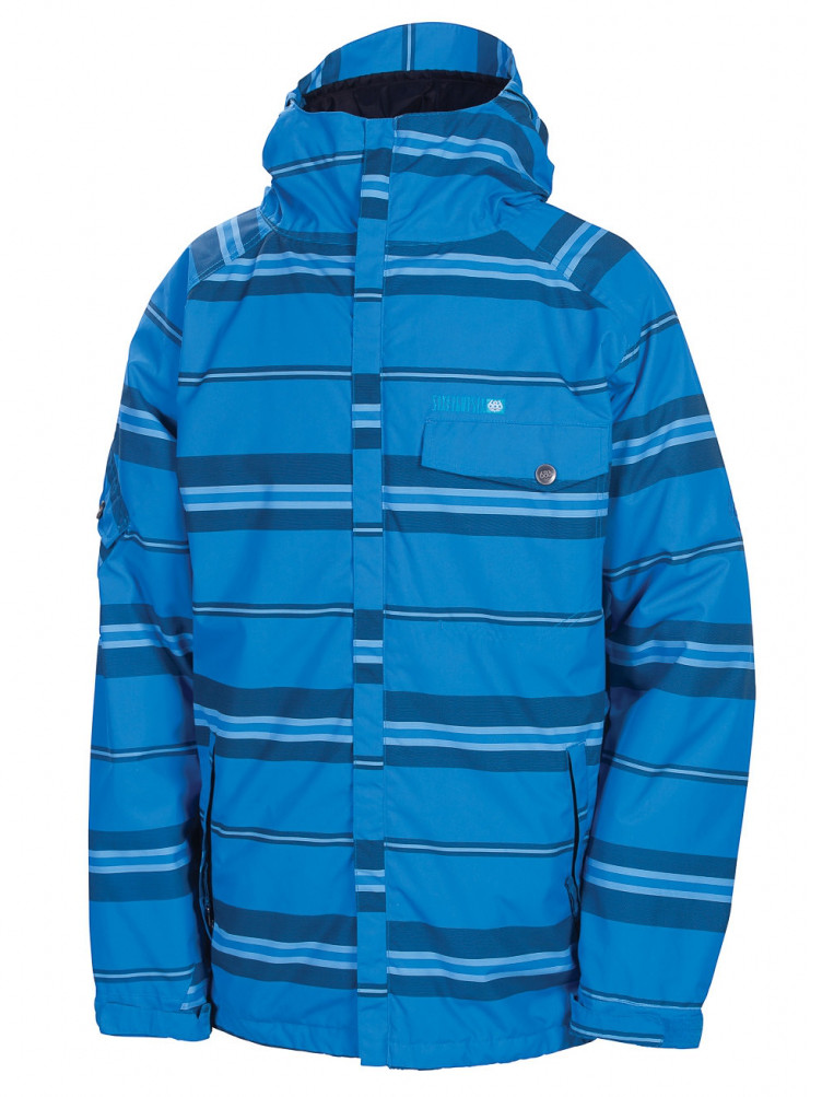 686 Bunda Mannual Factor Ins. Blue League Stripe - X modrá