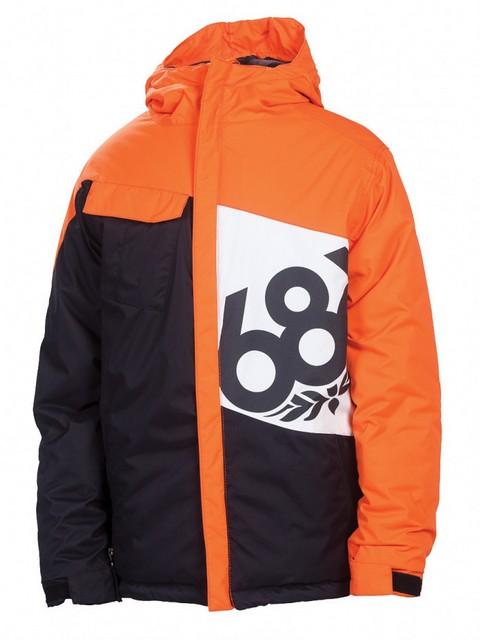 686 Bunda Mannual Iconic Insul Orange Colorblock - L oranžová