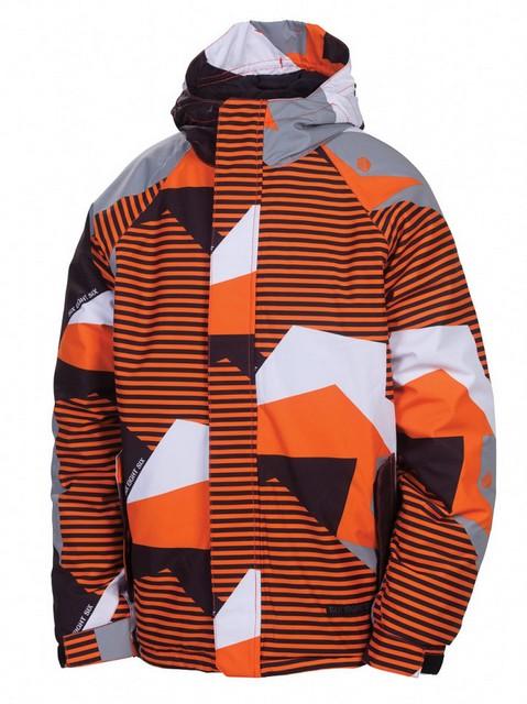 686 Bunda Mannual Mix Insulate Orange Mix Camo - L oranžová