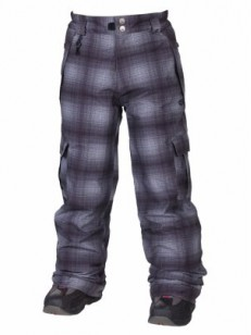 686 kalhoty MANNUAL RINGE INSULA Grey Ombre Plaid