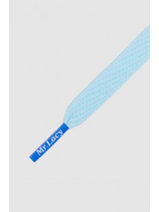 MR.LACY šnúrky FLATTIES COLORED TIP Smooth Blue/Ro