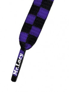 MR.LACY tkaničky PRINTIES Purple Black Checker
