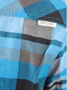 RIP CURL košile SS VINTAGE CHECK DRESDEN BLUE