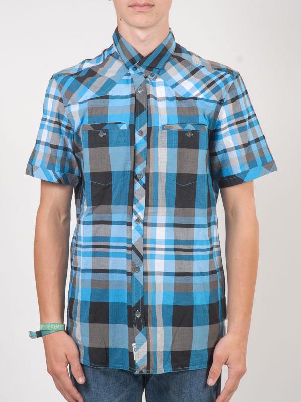 Rip Curl Košile Ss Vintage Check Dresden Blue - S modrá