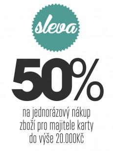 TEMPLESTORE poukaz 50% sleva na jednorázový nákup