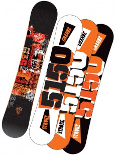 5150 snowboard STROKE BLK/ORG 164W