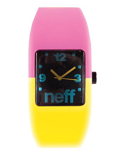 Neff Hodinky Bandit Pink/yellow - L/xl růžová