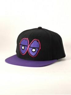 KROOKED šiltovka EYES SNAP BLK/PURPLE