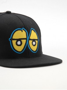 KROOKED kšiltovka EYES SNAP BLK/YEL/BLUE