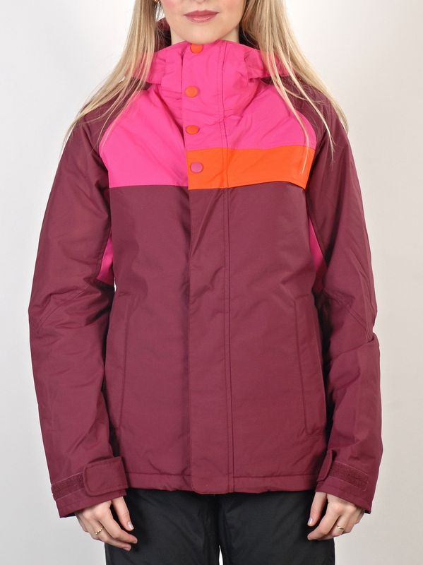 Burton Bunda Method Sangria Colorblock - L červená