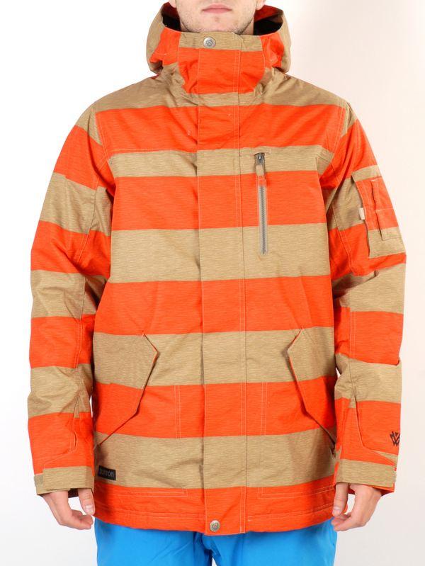 Burton Bunda Tracker Burner Rugby Stripe - M oranžová