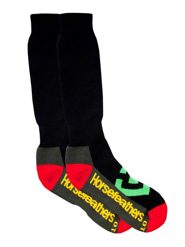 Horsefeathers Ponožky Loby Snow Rasta - 11 - 13 černá