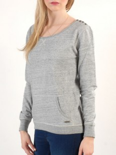 ROXY mikina MONTREAL HEATHER GREY