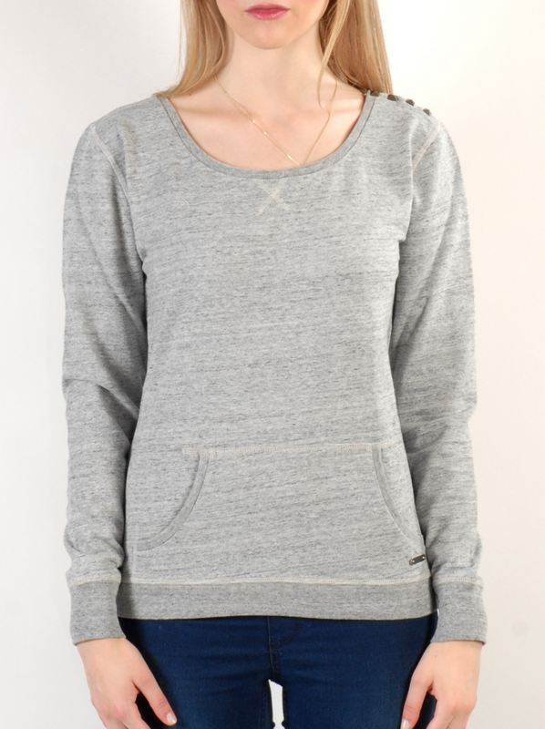 Roxy Mikina Montreal Heather Grey - M šedá