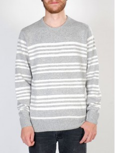 QUIKSILVER svetr CAMERON LIGHT GREY HEAT