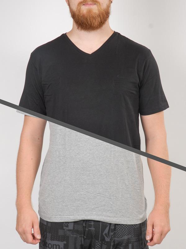 Quiksilver Triko Pack V Neck Light Grey Heat - Xl šedá
