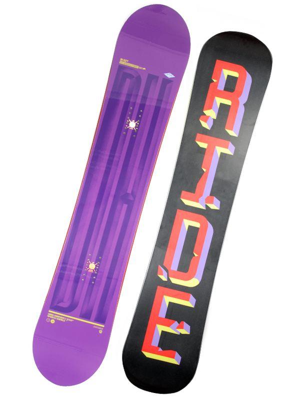 Ride Snowboard Dh Vio/blk 153 fialová