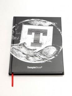 TEMPLESTORE zápisník WAVE BLK/BLK