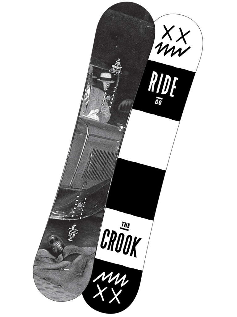 Ride Snowboard Crook Blk/wht 157w