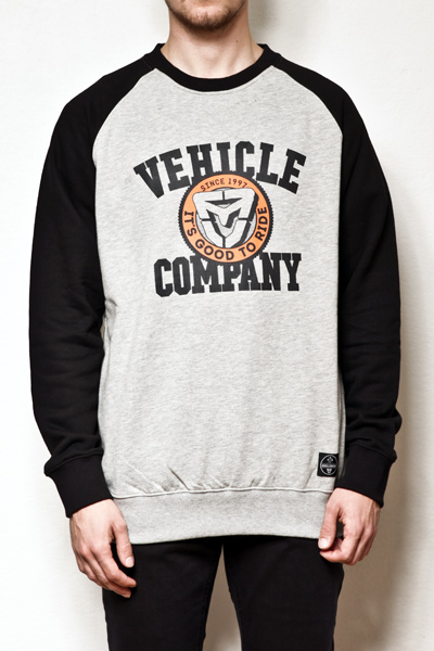 Vehicle Mikina Baseball Heather Grey/black - Xs šedá
