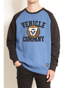 VEHICLE mikina BASEBALL BLUE/BLACK