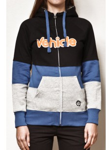 VEHICLE mikina DOROTHY BLACK/BLUE/HEATHER GREY
